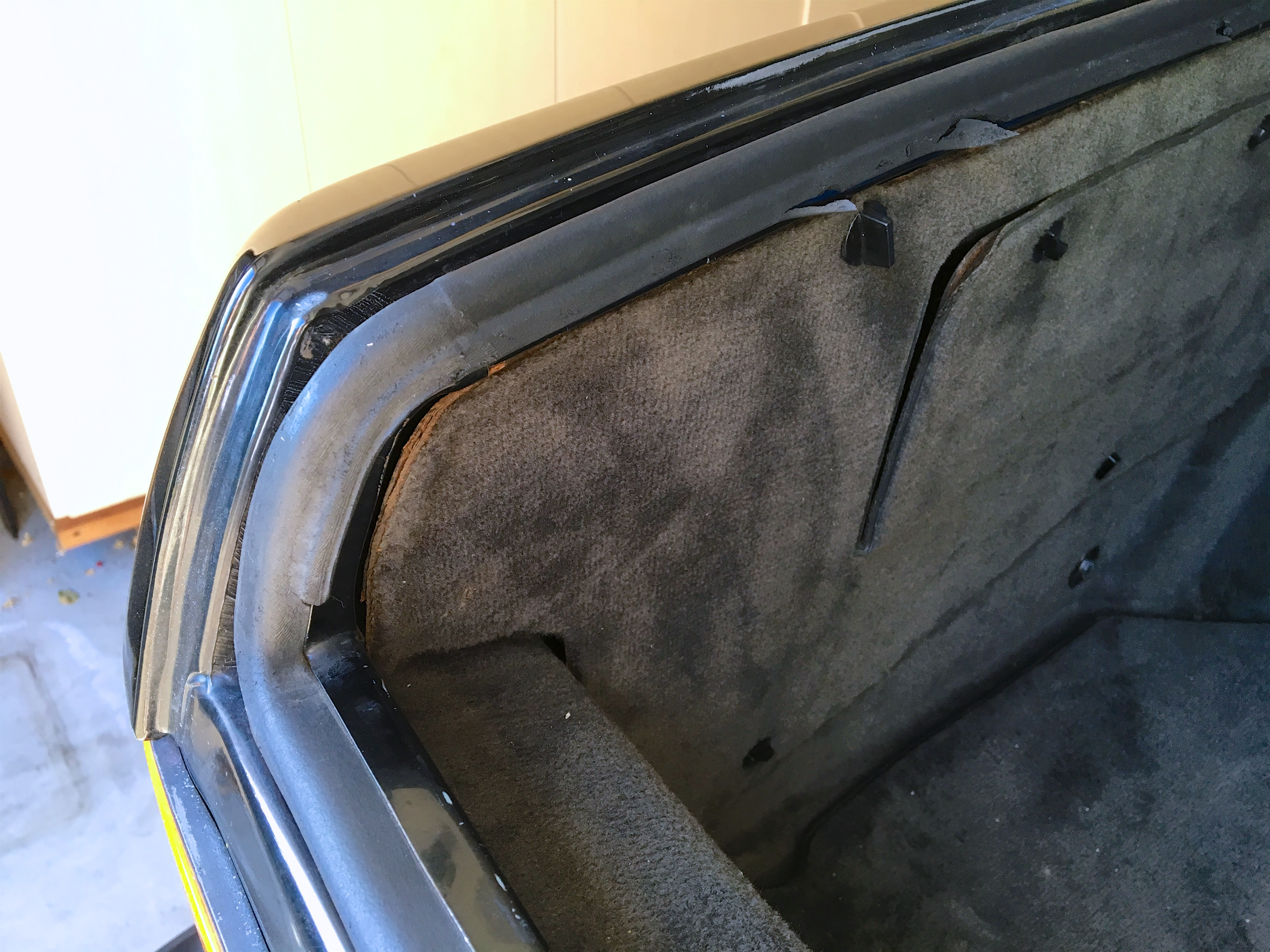 """1988 BMW M5 >> Replace Trunk Seal   1988 BMW E28 M5 - """"1 of 30"""" Black on Black"""